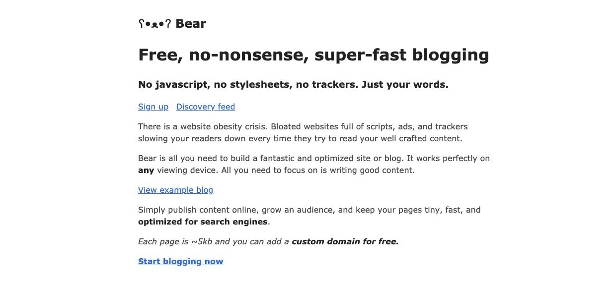 bearblog