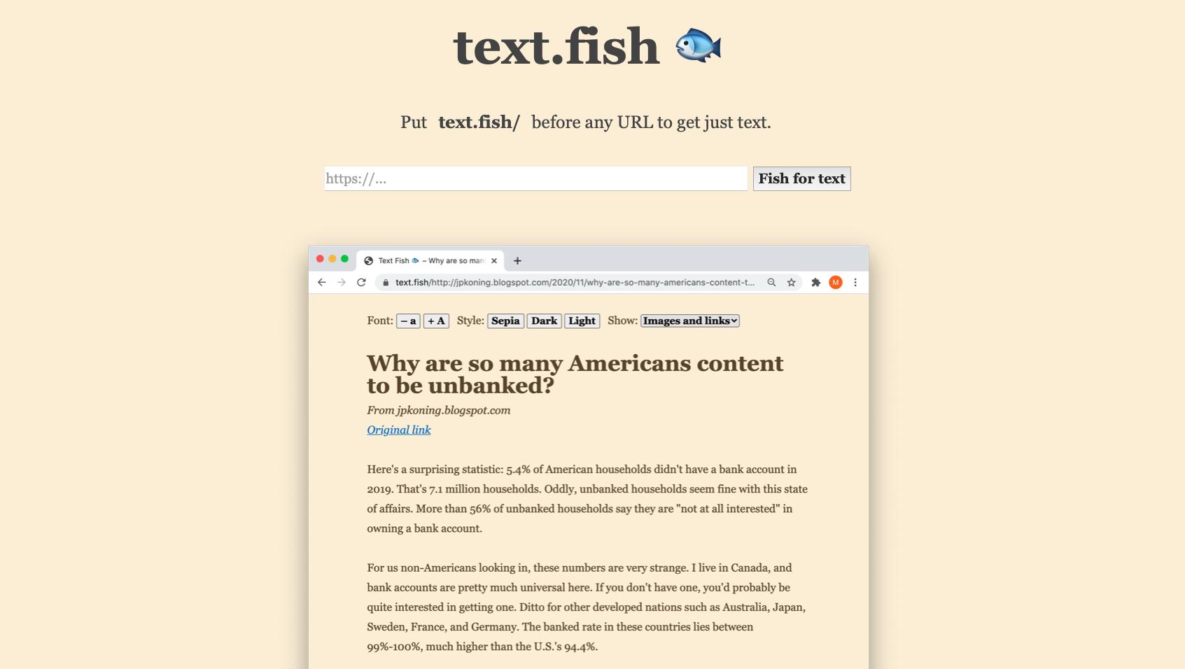 Text Fish
