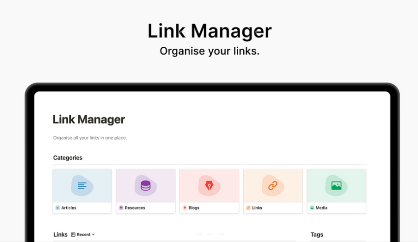 Notion Link Manager