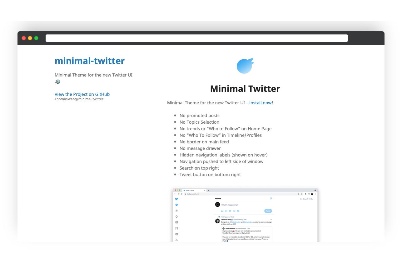 Minimal Twitter